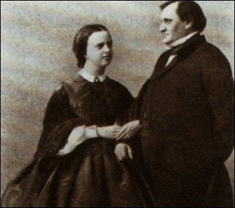 Clotilde di Savoia e Gerolamo Bonaparte in una foto scattata dopo il matrimonio