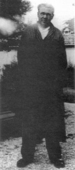 Foto di Arturo Reghini a Budrio negli anni '40 del secolo scorso.