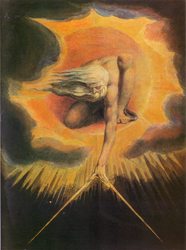 William Blake, The Ancient of Days setting a Compass to the Earth, 1794.