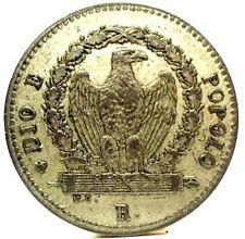 Aquila sul verso di un baiocco, moneta della Repubblica Romana del 1849