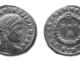 Moneta romana di epoca costantinea sul rovescio la corona querquensis