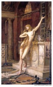 Charles William Mitchell, Hypatia, 1885, olio su tela (244,5 x 152,5 cm), Laing Art Gallery, Newcastle upon Tyne (Tyne and Wear Museums).