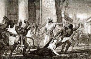 Hildebrand, Mort de la philosophe Hypatie, a Alexandrie, seconda metà XIX sec.
