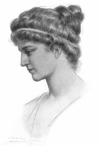 """Ritratto immaginario di Ipazia, in Elbert Hubbard, """"Hypatia"""", in Little Journeys to the Homes of Great Teachers, The Roycrofters, East Aurora; New York, 1908, p. 78."""
