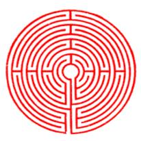 Schema del labirinto della cattedrale di Chartres