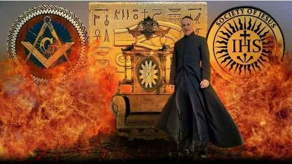 Immagine del Papa Francesco in un sito cospirazionista e antimassonico