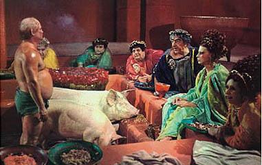 La cena di Trimalcione dal Satyricon di Fellini (1969)