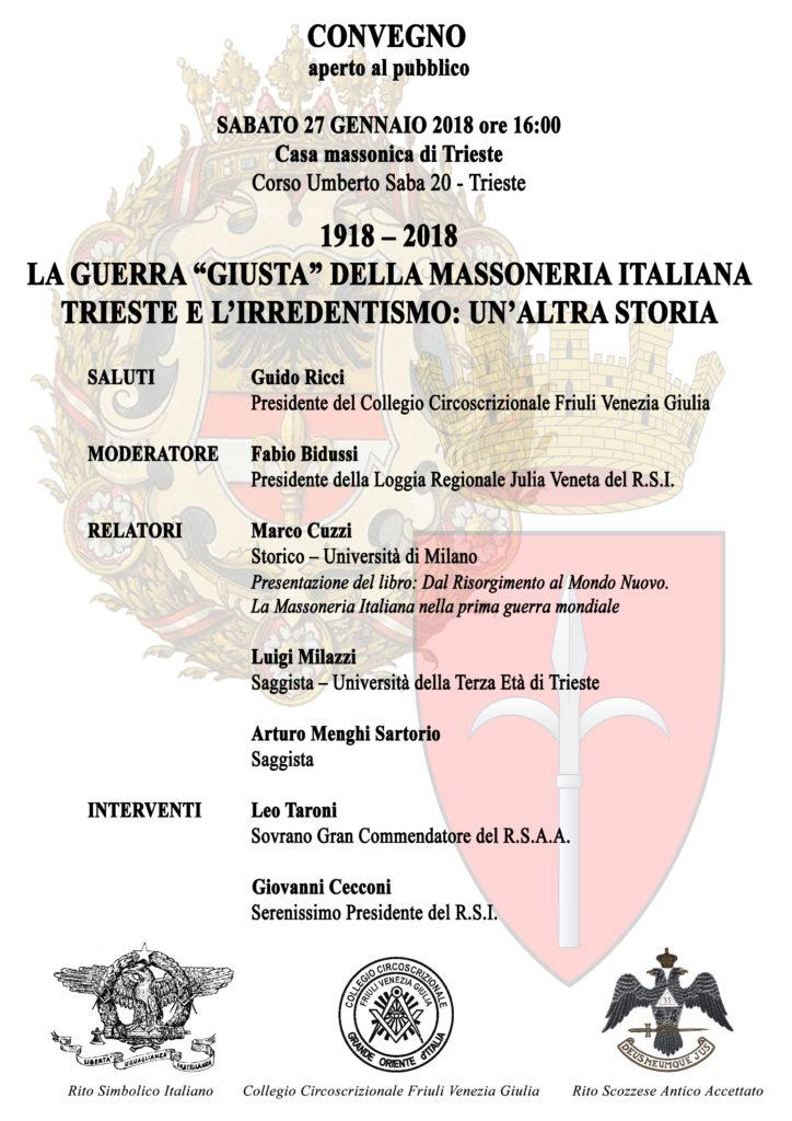 """Convegno pubblico La """"Guerra giusta"""" della Massoneria ..."""