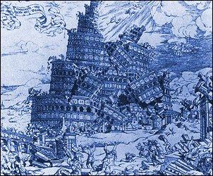 Il crollo della Torre di Babele, C. Anthoniszoon, 1547