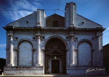Rimini, Tempio Malatestiano, cartolina di Emilio Salvatori