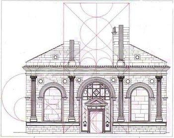 Sezioni auree della facciata del Tempio Malatestiano