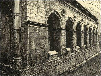 Fiancata del Tempio con le arche, incisione di C. Yriarte, 1882