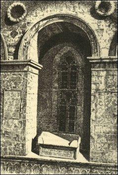 Particolare di un'arca del Tempio, incisione di C. Yriarte, 1882