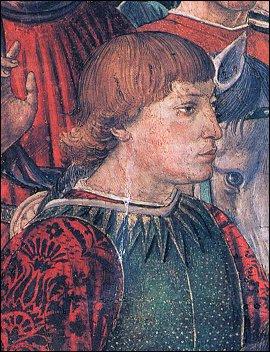 """Benozzo Gozzoli, Ritratto di Sigismondo Malatesta, Particolare de """"Il Corteo dei Magi"""", 1459, Palazzo Medici-Riccardi, Firenze"""