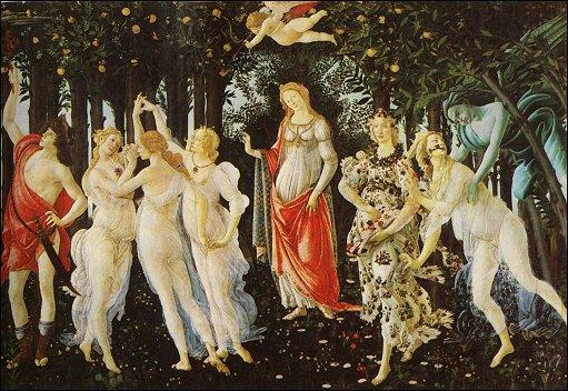 Botticelli, Primavera, 1478 circa, Galleria degli Uffizi, Firenze