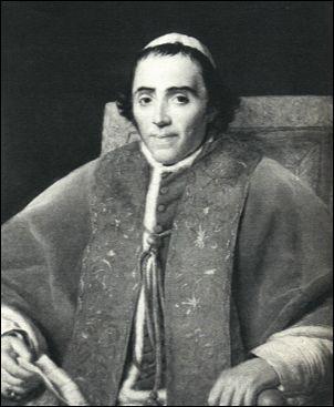 Papa Pio VII in un ritratto di David