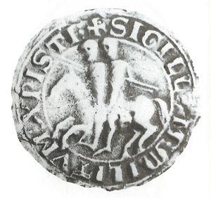 Sigillo dell'ordine templare, risalente al XIII secolo